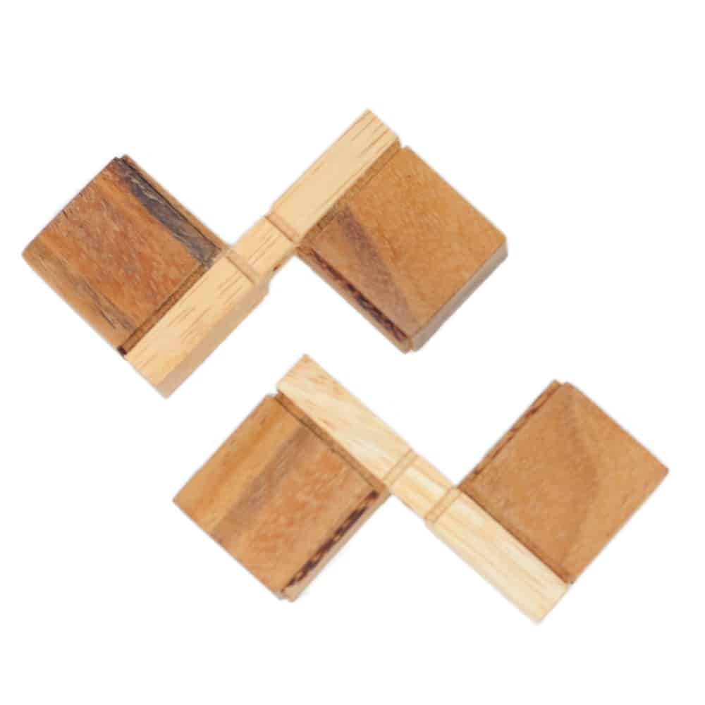 wooden cross puzzle solution 3 piece